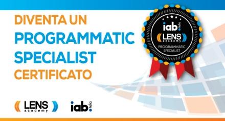 Lens Academy e IAB Italia in partnership per la certificazione di Programmatic Specialist